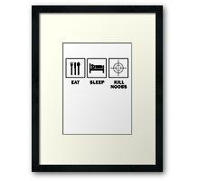 Eat Sleep Kill Noobs Framed Print