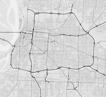 Memphis, USA Map. (Black on white) by Graphical-Maps