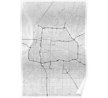 Memphis, USA Map. (Black on white) Poster