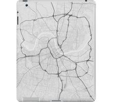 Nashville, USA Map. (Black on white) iPad Case/Skin