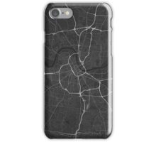 Nashville, USA Map. (White on black) iPhone Case/Skin