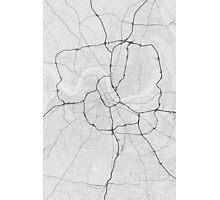 Nashville, USA Map. (Black on white) Photographic Print
