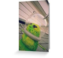 Alien Snowman 02 Greeting Card