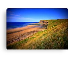 Hunt Cliff and Saltburn Beach, North Yorkshire, England ( 3 Features)  Canvas Print