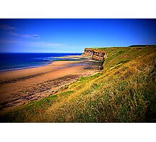 Hunt Cliff and Saltburn Beach, North Yorkshire, England ( 3 Features)  Photographic Print