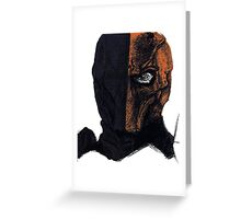 Deathstroke Coloured Ballpoint Greeting Card