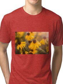 Sunshine Haze on Black-Eyed Susans Tri-blend T-Shirt