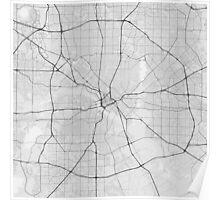 Dallas, USA Map. (Black on white) Poster