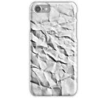 wrinkle paper grey iPhone Case/Skin