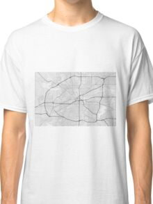 Fort Worth, USA Map. (Black on white) Classic T-Shirt