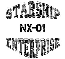 Star Trek - Enterprise NX-01 Text (Black) by hellafandom