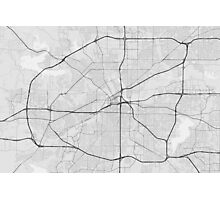 Fort Worth, USA Map. (Black on white) Photographic Print