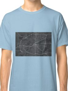Fort Worth, USA Map. (White on black) Classic T-Shirt