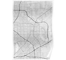 Garland, USA Map. (Black on white) Poster