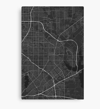 Garland, USA Map. (White on black) Canvas Print