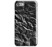 wrinkle paper grey reverse iPhone Case/Skin