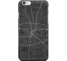 Houston, USA Map. (White on black) iPhone Case/Skin