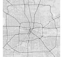 Houston, USA Map. (Black on white) Photographic Print