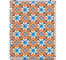 Bulgarian vintage pattern, seamless - Blue, White and Orange iPad Case/Skin