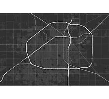 Lubbock, USA Map. (White on black) Photographic Print