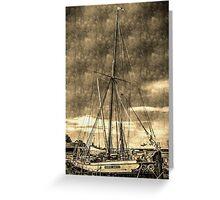 Thames Sailing Barge vintage Greeting Card