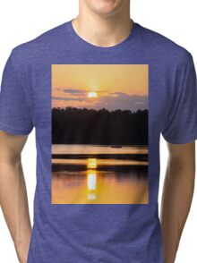 A Day on the Lake Tri-blend T-Shirt