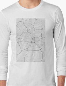 San Antonio, USA Map. (Black on white) Long Sleeve T-Shirt