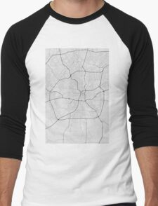 San Antonio, USA Map. (Black on white) Men's Baseball ¾ T-Shirt