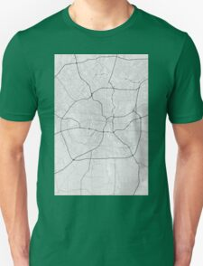 San Antonio, USA Map. (Black on white) Unisex T-Shirt