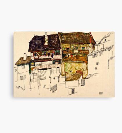 Egon Schiele - Old Houses in Krumau, 1914 (1914)  Canvas Print