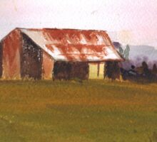 Farm shed  by Liz H Lovell Sticker