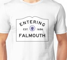 Entering Falmouth - Commonwealth of Massachusetts Road Sign Unisex T-Shirt