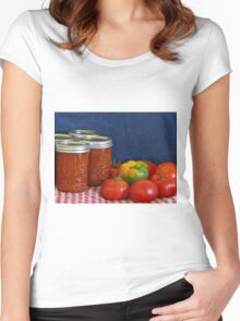 Salsa Still Life Women's Fitted Scoop T-Shirt