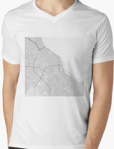 Buenos Aires, Argentina Map. (Black on white) Mens V-Neck T-Shirt