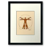 Vitruvian Iron! Framed Print