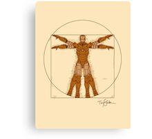 Vitruvian Iron! Canvas Print