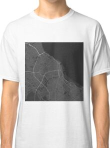 Buenos Aires, Argentina Map. (White on black) Classic T-Shirt