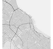 Buenos Aires, Argentina Map. (Black on white) Photographic Print