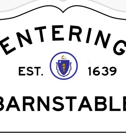 Entering Barnstable - Commonwealth of Massachusetts Road Sign Sticker