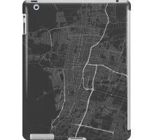 Mendoza, Argentina Map. (White on black) iPad Case/Skin