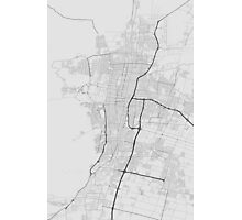 Mendoza, Argentina Map. (Black on white) Photographic Print