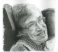 """A TIMELESS SMILE """"STEPHEN HAWKING"""" Poster"""