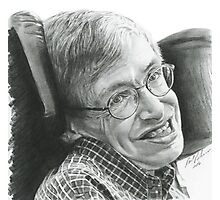 "A TIMELESS SMILE ""STEPHEN HAWKING"" Photographic Print"