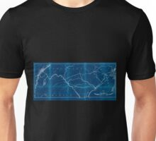 0185 Railroad Maps Map showing the coal timber lands of the Allegheny Rail Road Coal Company with the avenues to Inverted Unisex T-Shirt