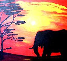 AFRICAN SUNSET SILHOUETTES by Mariaan M Krog Fine Art Portfolio