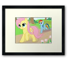 Never race against Fluttershy Framed Print