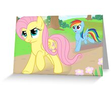 Never race against Fluttershy Greeting Card