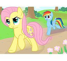 Never race against Fluttershy Photographic Print