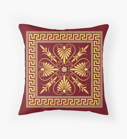 Greek ornament (Meander) Throw Pillow