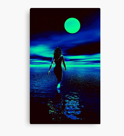 Water Woman Canvas Print